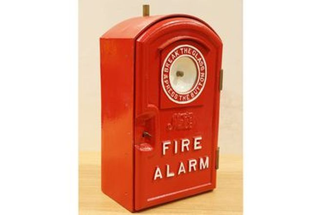 c1900's Cast Iron Fire Alarm Box