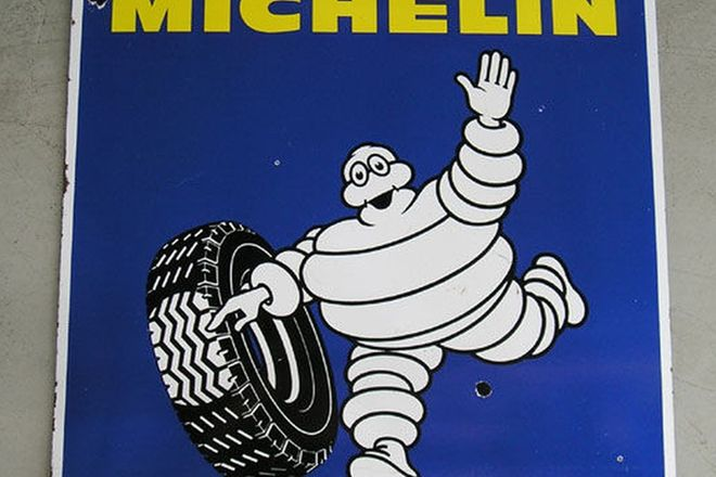 Enamel Sign - Michelin Tyres (3' x 3' )