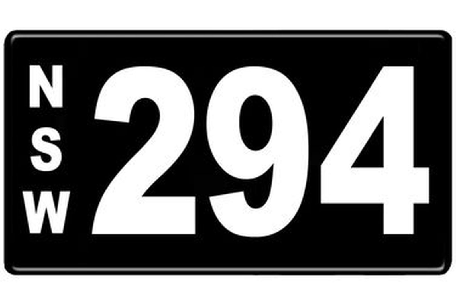 Number Plates - NSW Numerical Number Plates '294'
