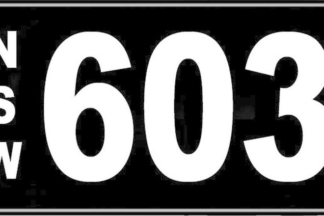 Number Plates - NSW Numerical Number Plates