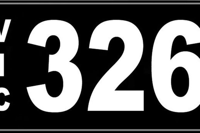 Number Plates - Victorian Numerical Number Plates '326'