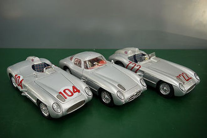 Model Cars x 6 - Mercedes-Benz Silver Arrows (1:18 scale)
