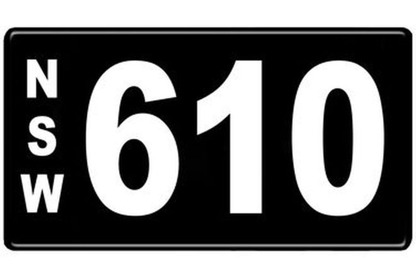 Number Plates - NSW Numerical Number Plates '610'