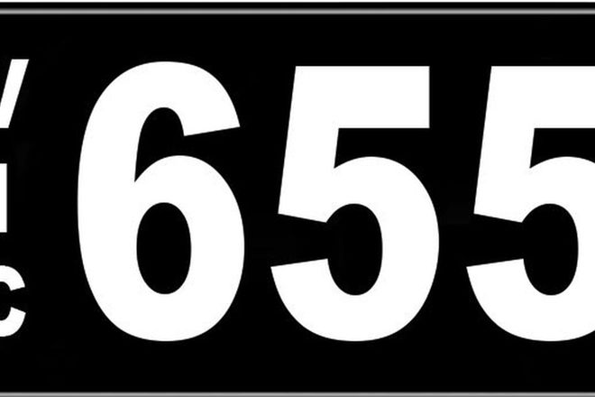 Number Plates - Victorian Numerical Number Plates '655'
