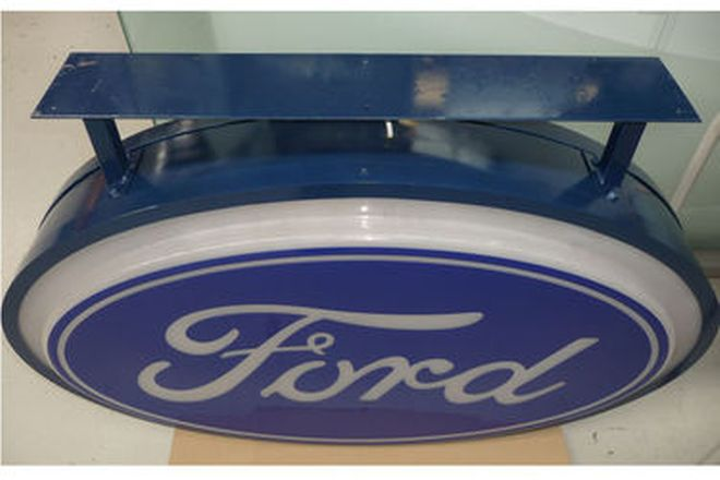Ford Dealership Light Box - Reproduction (120cm x 85cm)
