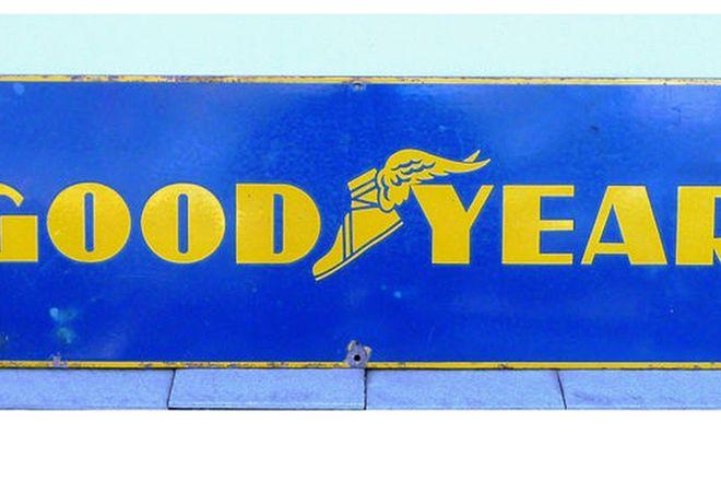 Enamel Sign - Goodyear Horizontal Sign (30cm x 90cm)