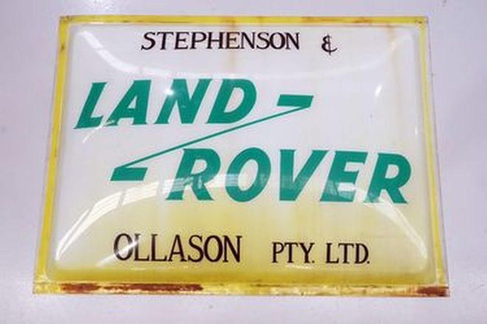 Plastic Sign - Land Rover Stephenson & Ollason Pty Ltd (122 x 90 cm)