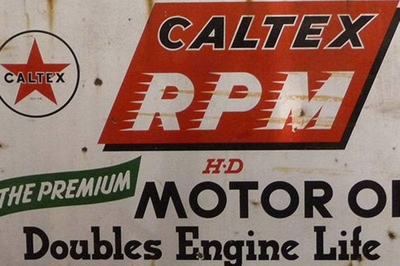 Enamel Sign -  Caltex RPM (153 x 90cm)