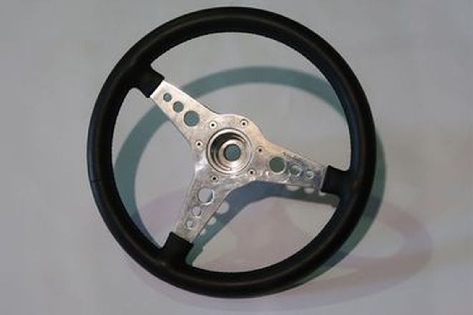 Steering Wheel - Moto Lita 3-spoke Alloy with Leather Covering (36cm Diameter)