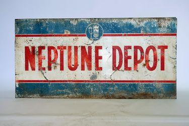 Tin Sign - Neptune Depot (184 x 93cm)