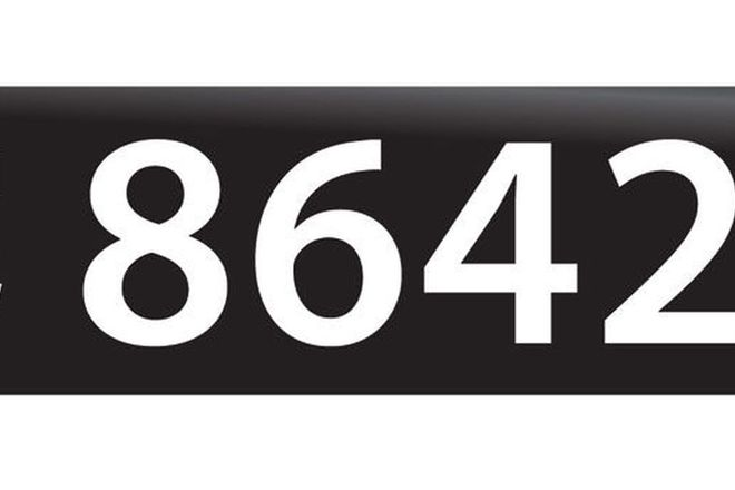 RTA NSW Numerical Number Plates '8642'