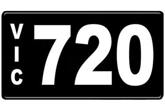 Number Plates - Victorian Numerical Number Plates - 720