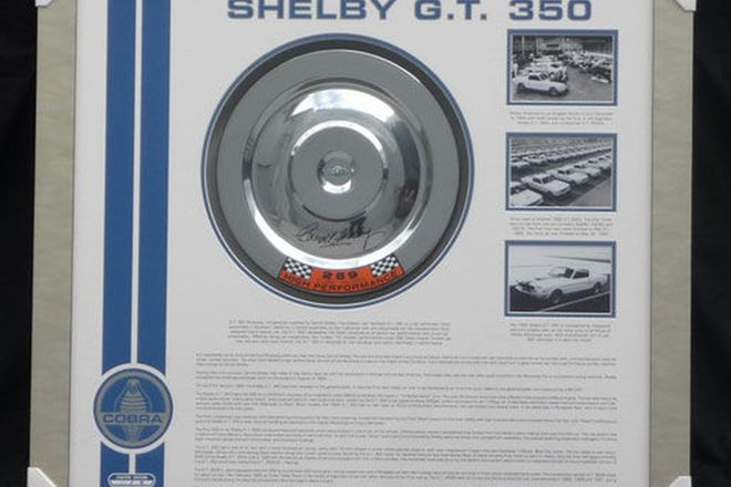 Shelby GT 350 Air Filter signed by Carroll Shelby