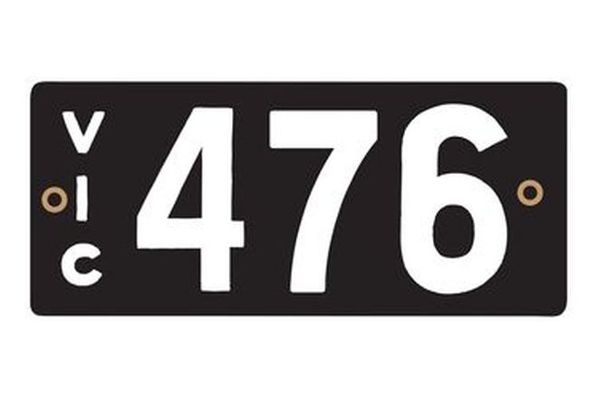Victorian Heritage Numerical Number Plates '476'