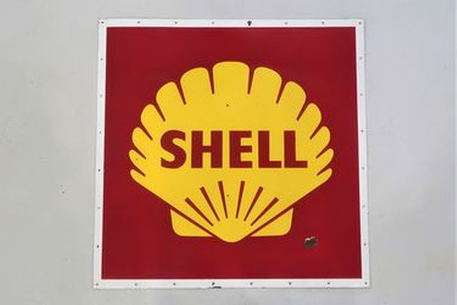 Enamel Sign - Shell (122cm x 122cm)