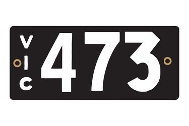 Victorian Heritage Numerical Number Plates - '473'