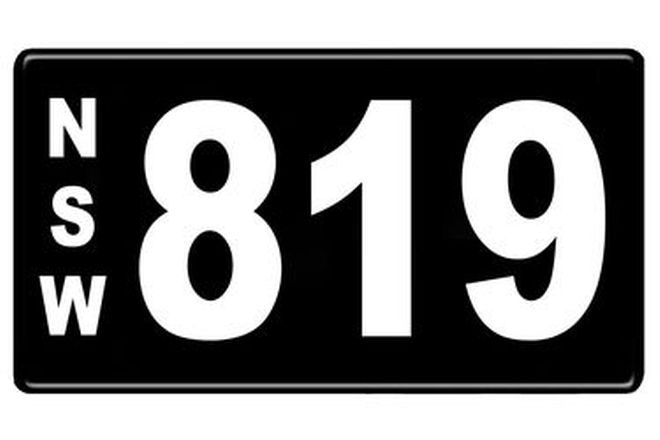 NSW Numerial Number Plates '819'