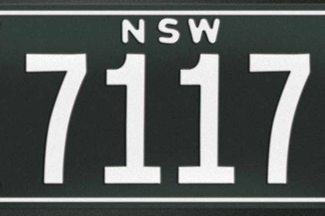 NSW Numerical Number Plates '7117'