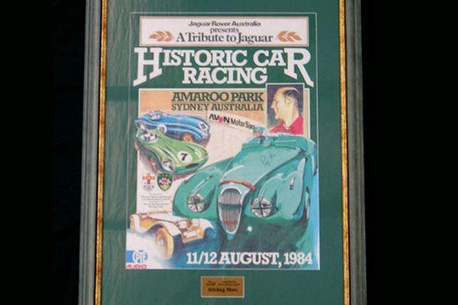 Framed Poster - ' A Tribute to Jaguar' & Booklet signed by Sir Stirling Moss