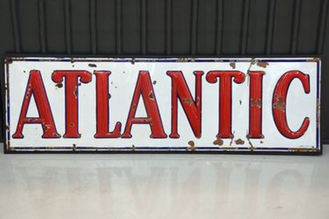 Enamel Sign - Atlantic 'Embossed' (360 x 90cm)