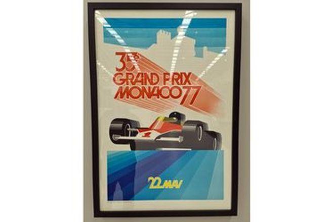Grand Prix Monaco 77 Framed Print (720W x 1040H)