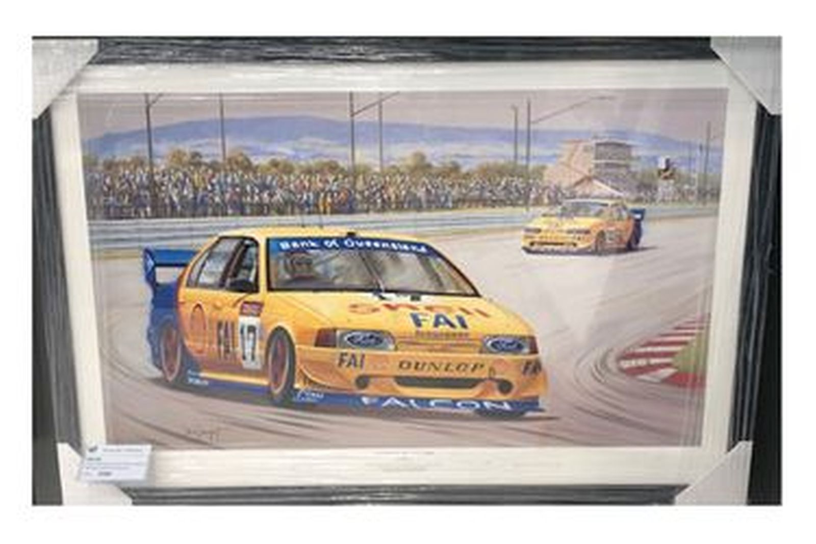 Framed Photo - Dick Johnson & John Bowe Signed 'Master of the Mountain' 1994 Bathurst Win