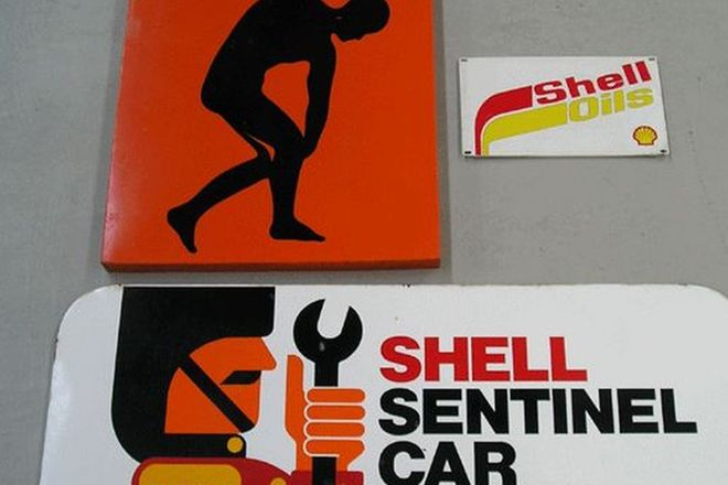 Signs - Tin 2 x Shell, 1 x Olympic