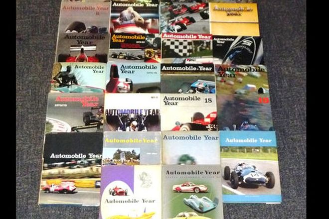 Books- Annual Automobile Review x 26. Numbers 4-32 (excluding 15,16 & 20)