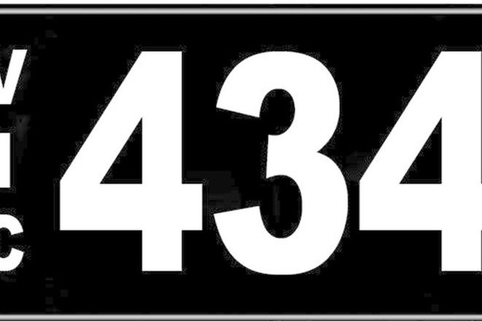 Number Plates - Victorian Numerical Number Plates - '434'