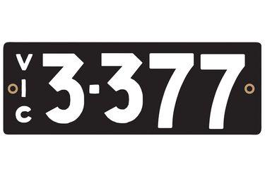 Victorian Heritage Plate '3.377'