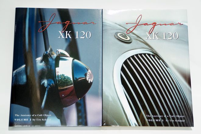 JAGUAR  XK120 VOLUMES 1&2 BY URS SCHMID IN BOXES