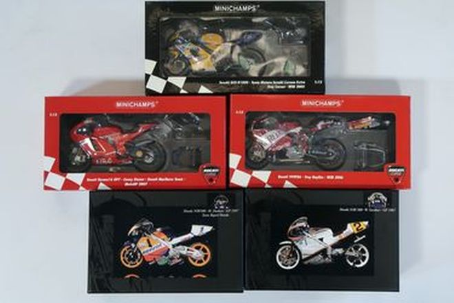 Model Motorcycles - 5 x Collection of Australian World Champion (1:12 Scale)