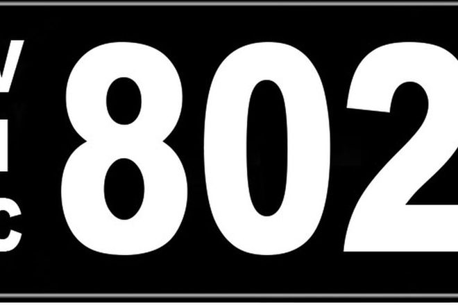 Number Plates - Victorian Numerical Number Plates '802'