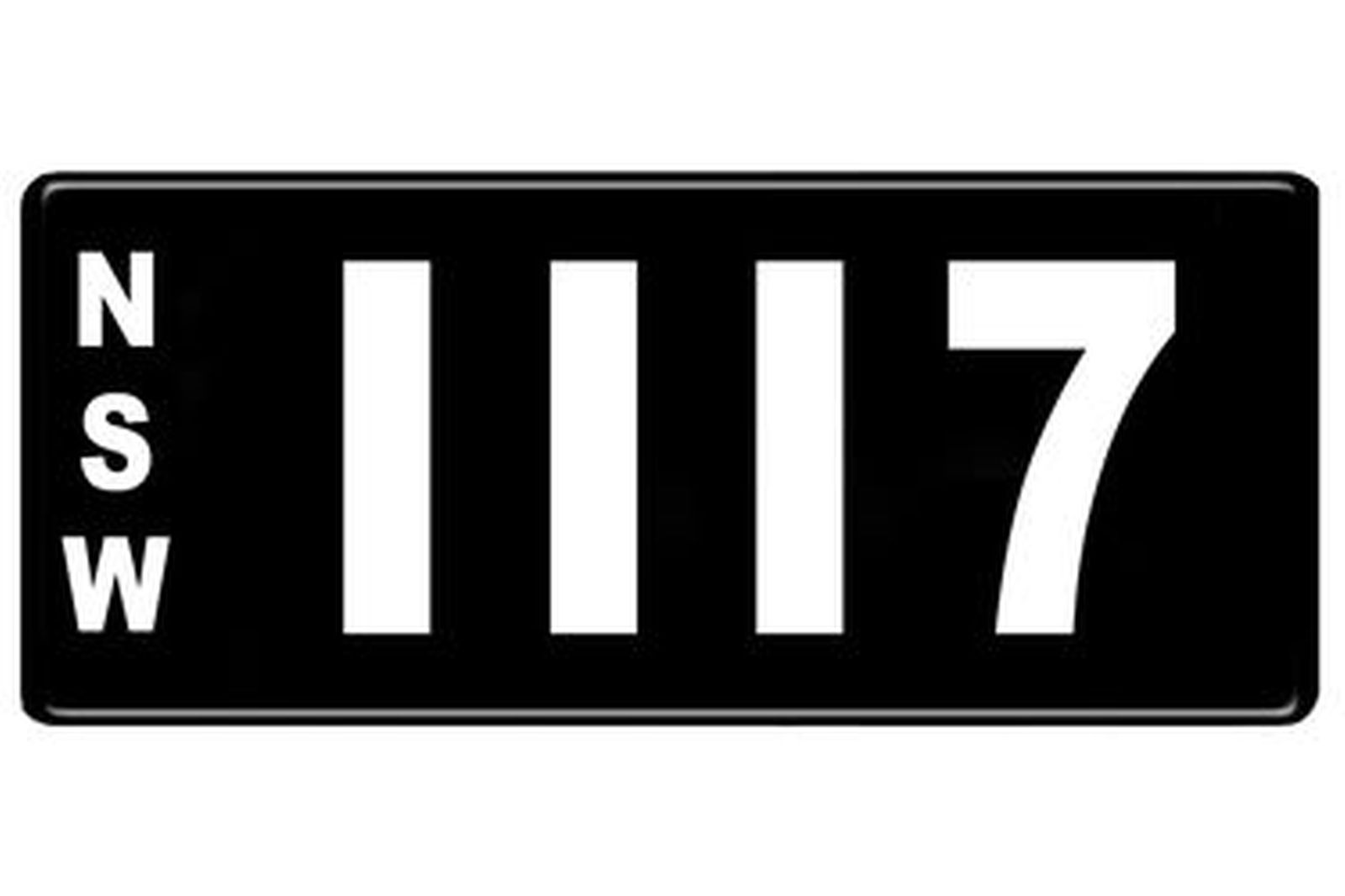 Number Plates - NSW Numerical Number Plates '1117'