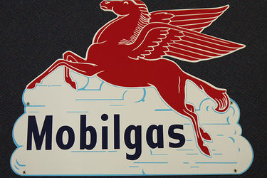 Tin Sign - Mobilgas Pegasus 'In The Clouds' (Reproduction)