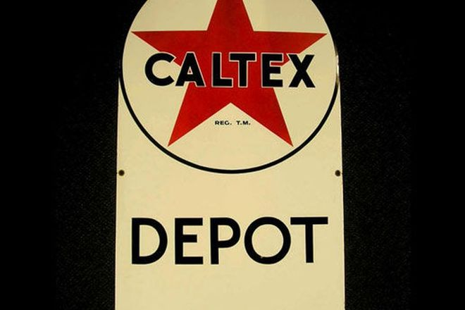 Enamel Sign - Caltex Depot Sign (105 x 61cm)