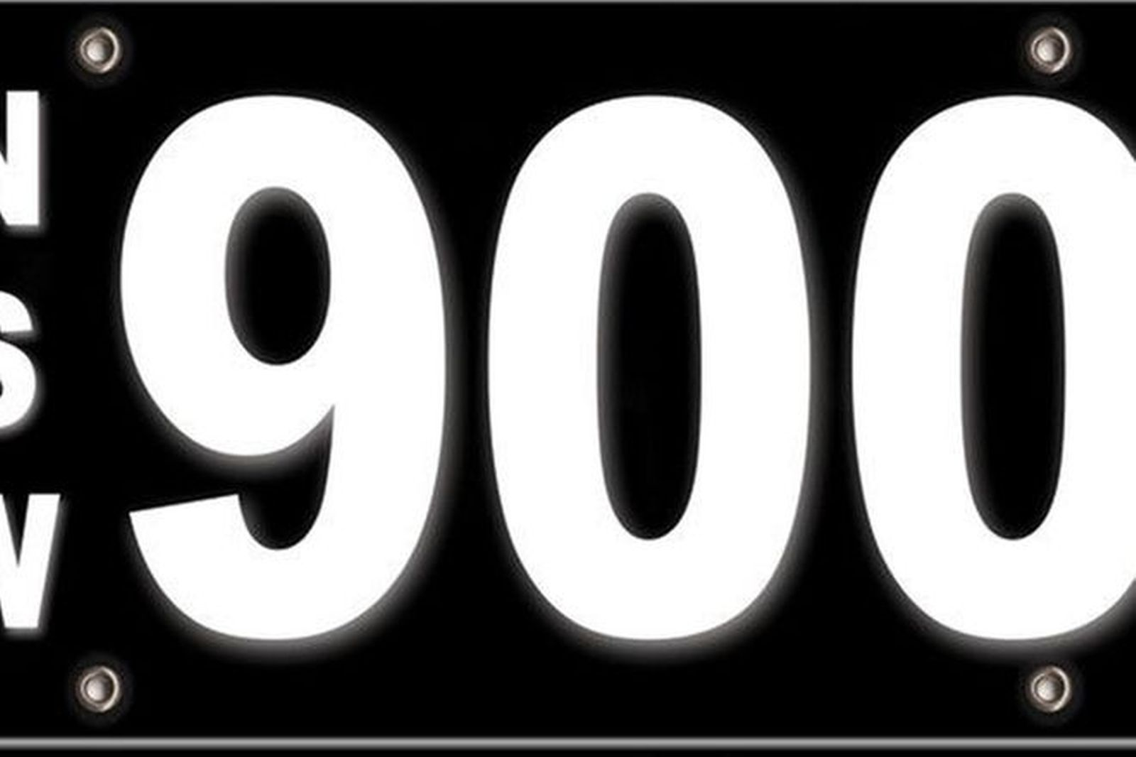 RTA NSW Numerical Motorcycle Number Plates '900'