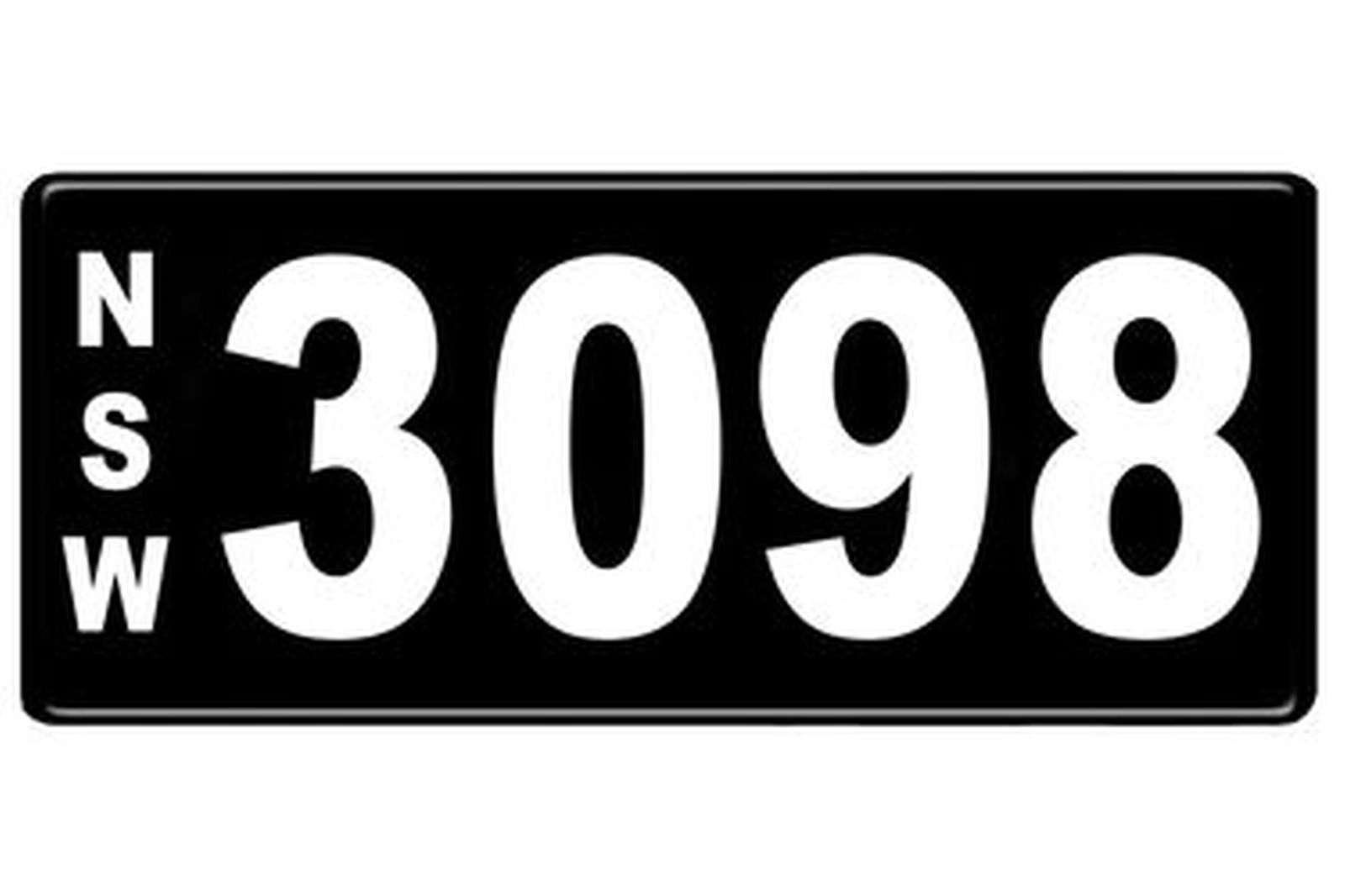 Number Plates - NSW Numerical Number Plates '3098'
