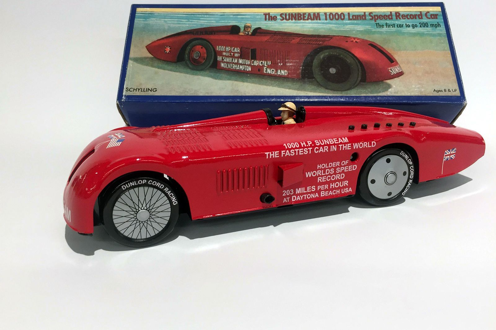 Model Tin Car Schylling Collector Series - The Sunbeam 1000 Land Speed Record Car