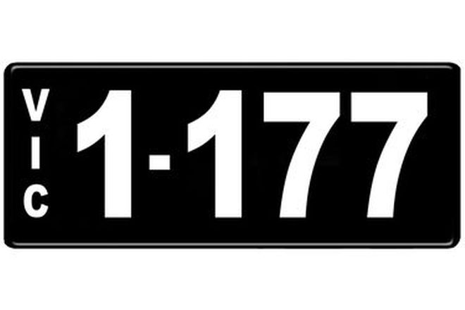Number Plates - Victorian Numerical Number Plates '1.177'