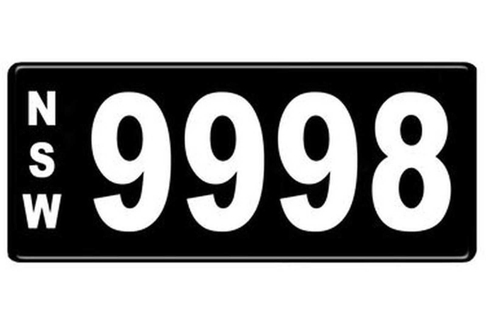 Number Plates - NSW Numerical Number Plates '9998'