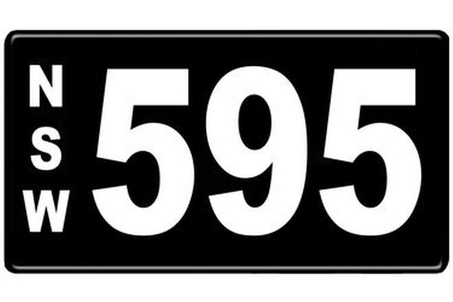 Number Plates - NSW Numerical Number Plates '595'
