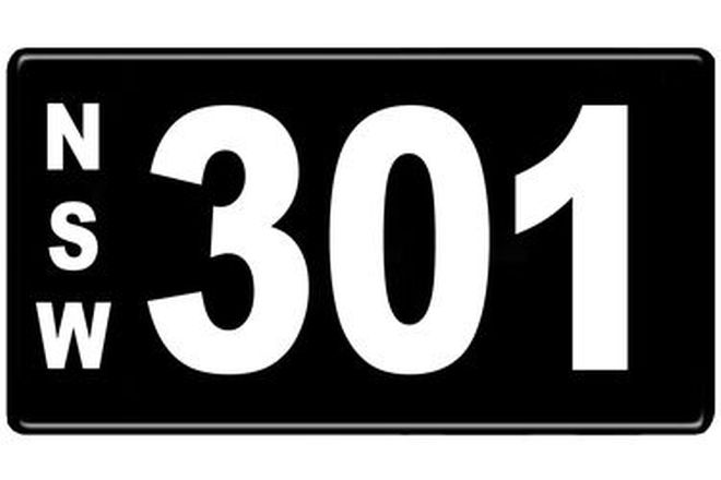 Number Plates - NSW Numerical Number Plates '301'