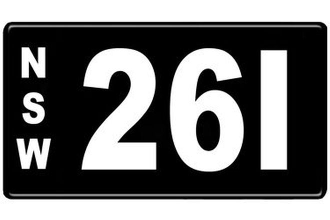 Number Plates - NSW Numerical Number Plates '261'