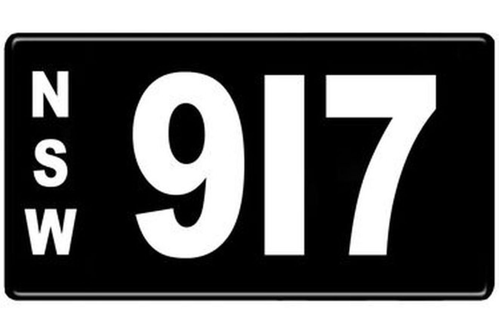 Number Plates - NSW Numerical Number Plates '917'