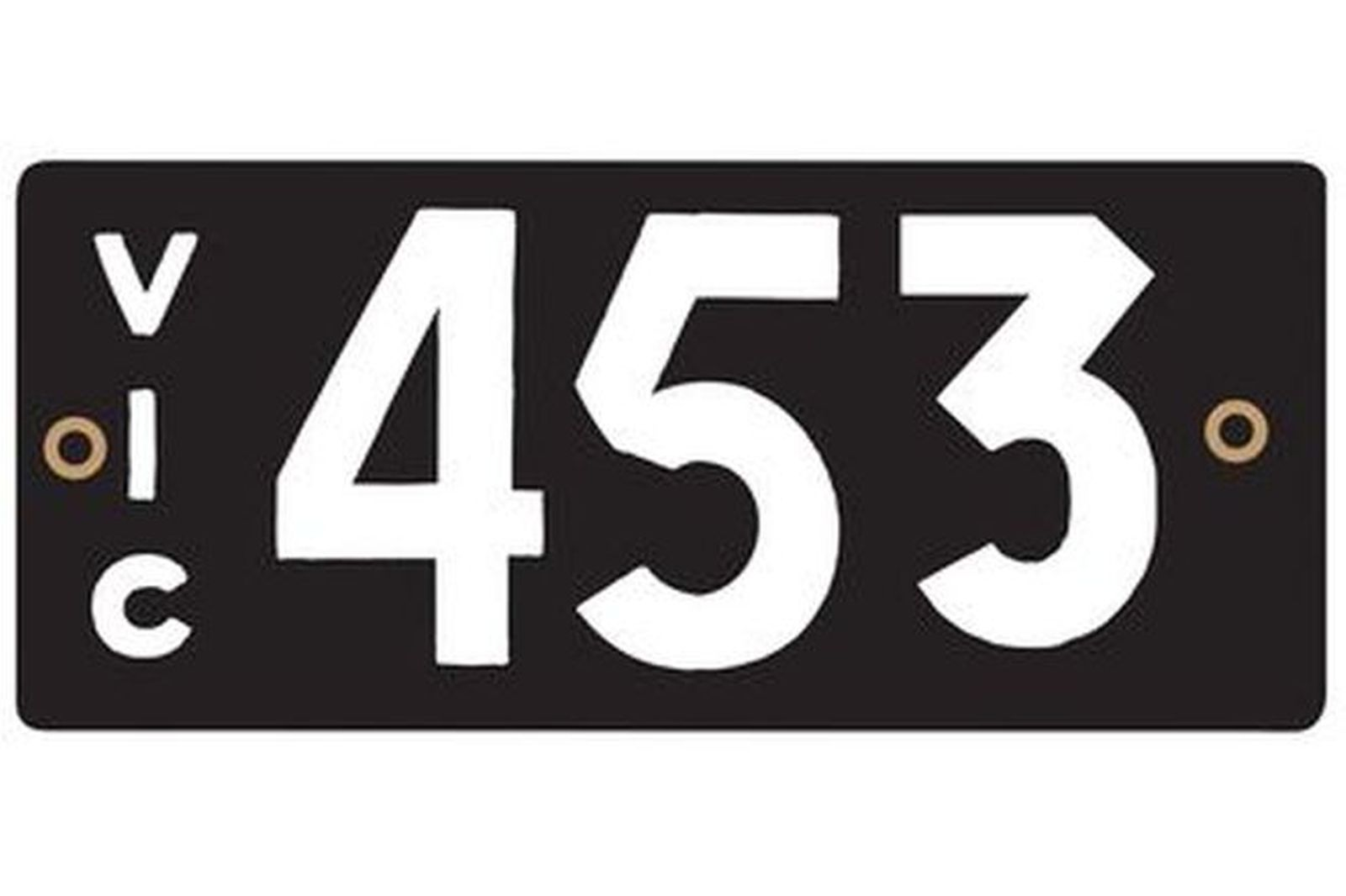 Number Plates - Victorian Numerical Number Plates '453'