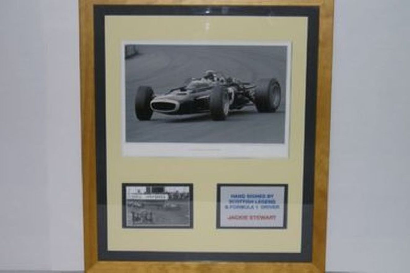 Sold: CHARITY LOT - 2 X Signed Framed Prints, F1 Classic Collection