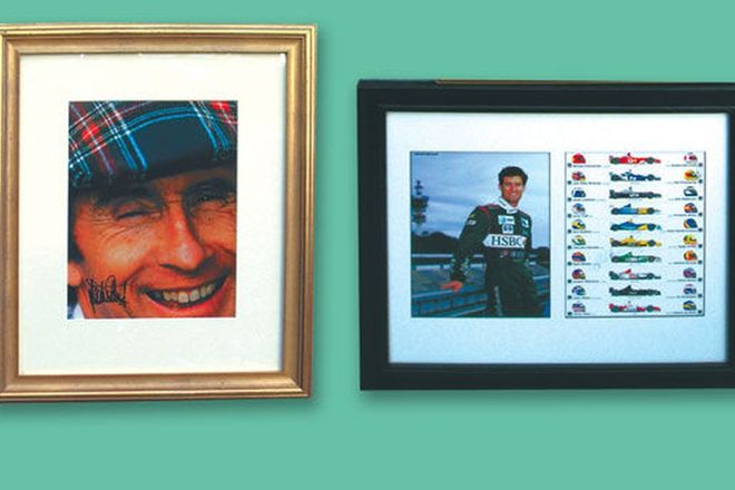 2 x Framed Signed Prints - Jackie Stewart & Mark Webber