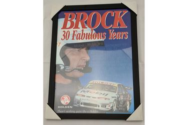 'Brock - 30 fabulous years' Framed Poster (470W x 644H)
