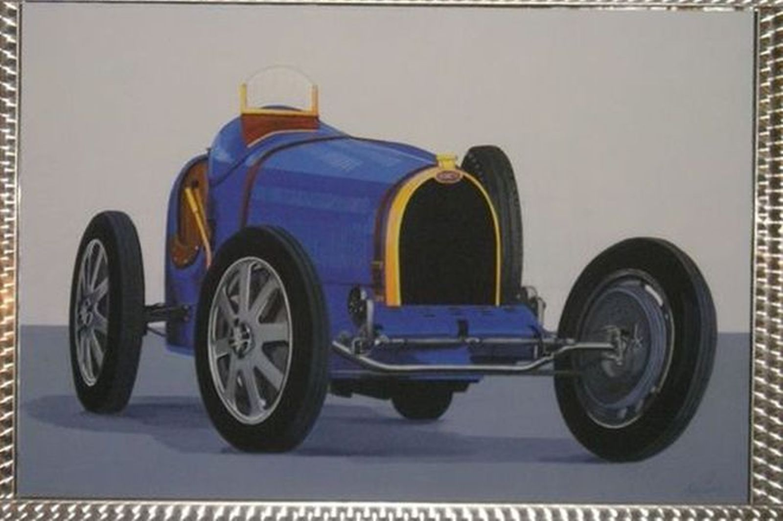 Painting - Bugatti Type 35 with Machine Finished Frame by Terry Lawrie